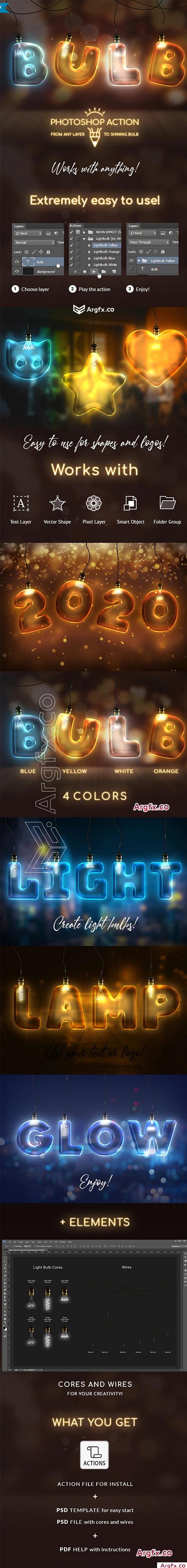 GraphicRiver - Light Bulb - Photoshop Action 25602135