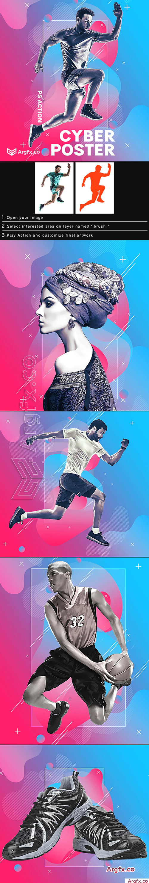 GraphicRiver - Cyber Poster Photoshop Action 25597014