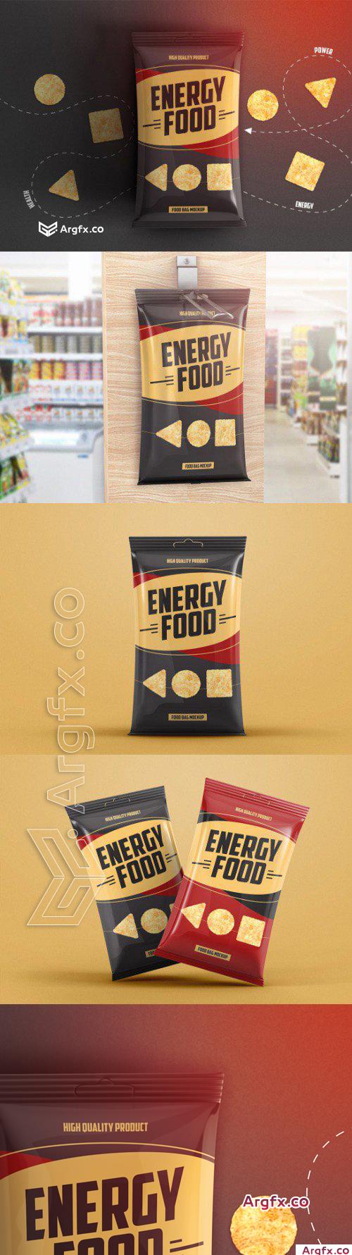 Food Bag Product Mockup