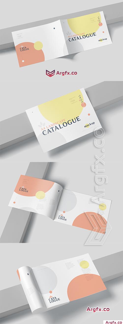A4 Horizontal Catalogue Mockups