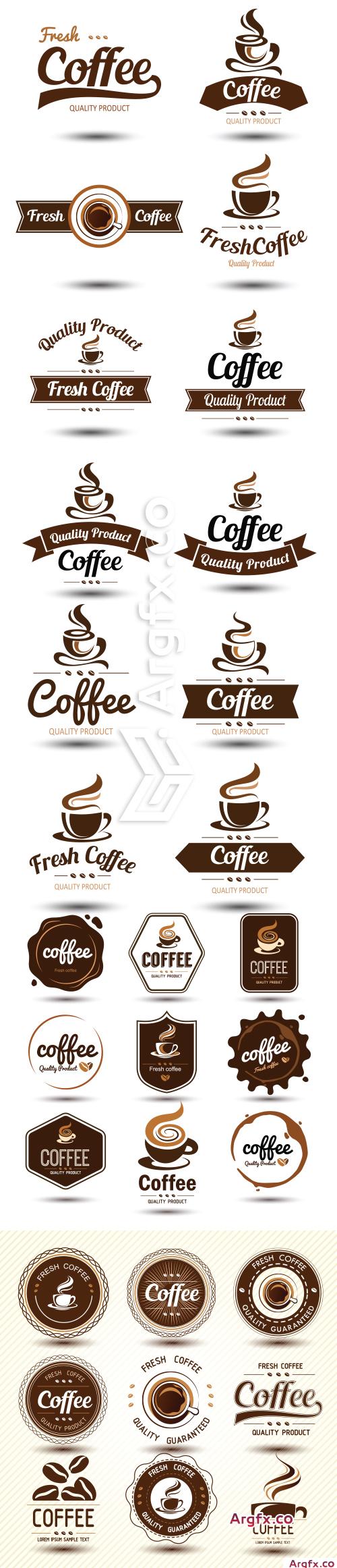 Coffee vector label