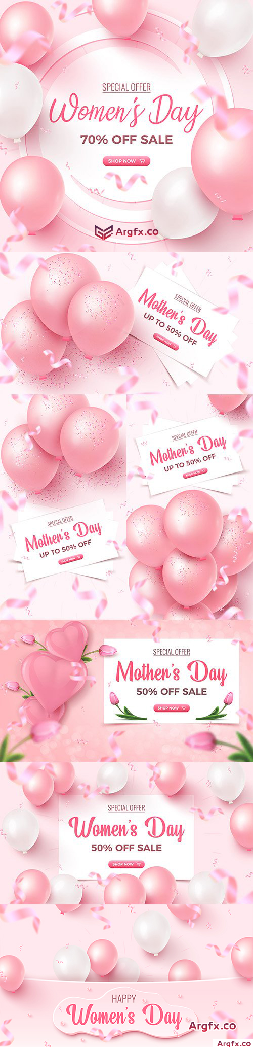 Mother 's Day special offer design poster in pink
