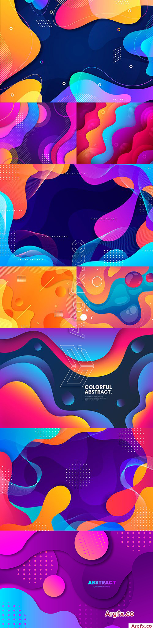 Colorful wavy background gradient abstract design