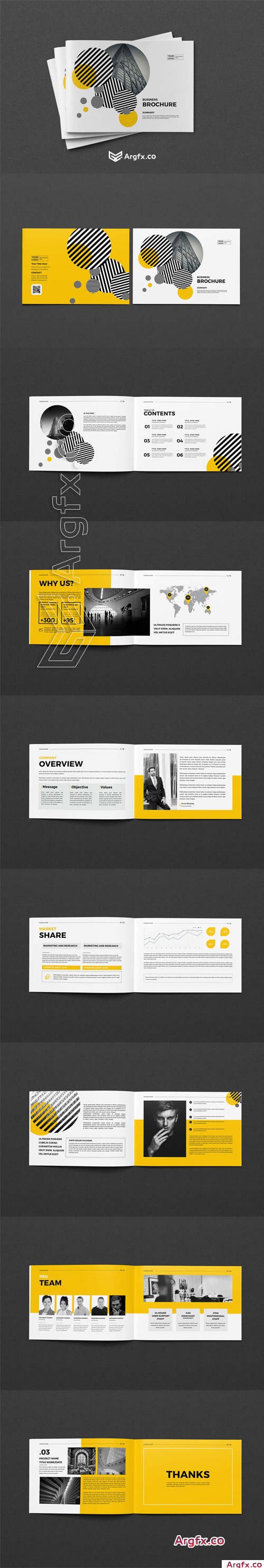 CreativeMarket - A5 Business Brochure 4359298