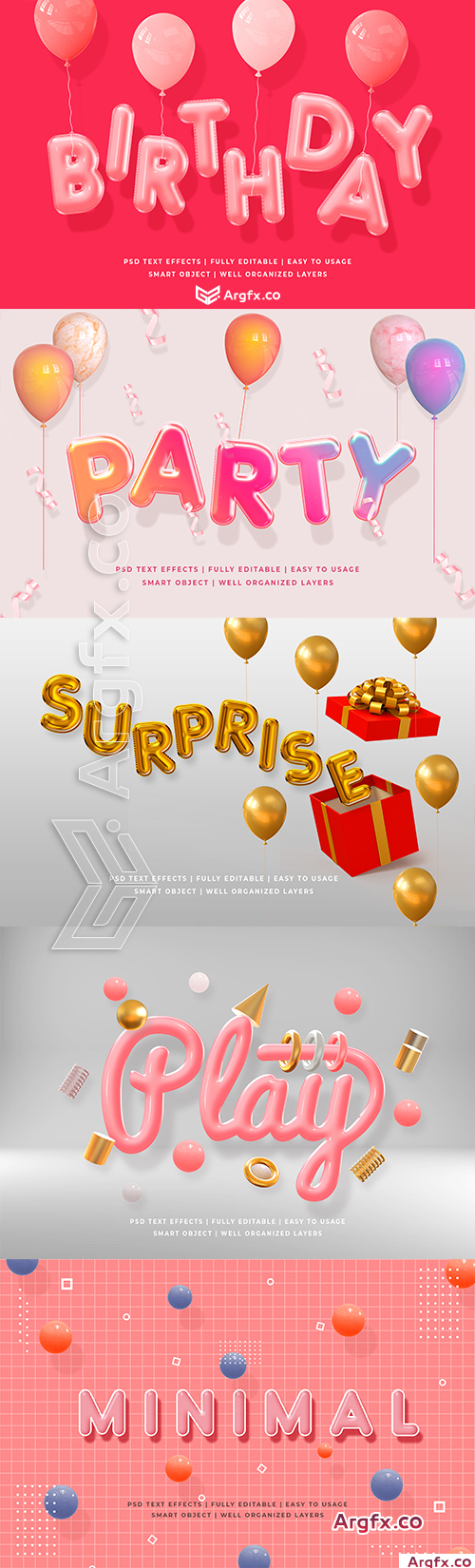 Graphicriver - Birthday Party 3d Text Style Effect Mockup 25633246