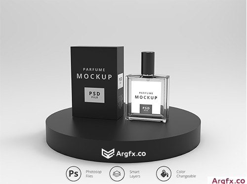 Perfume packaging mockup Premium Psd