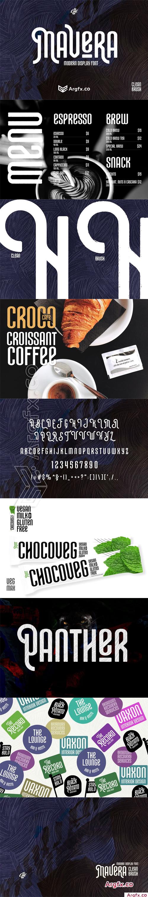 CM - Mavera Modern Display Font 4593569