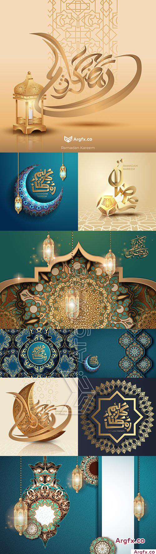 Ramadan Karrem design calligraphy greeting card