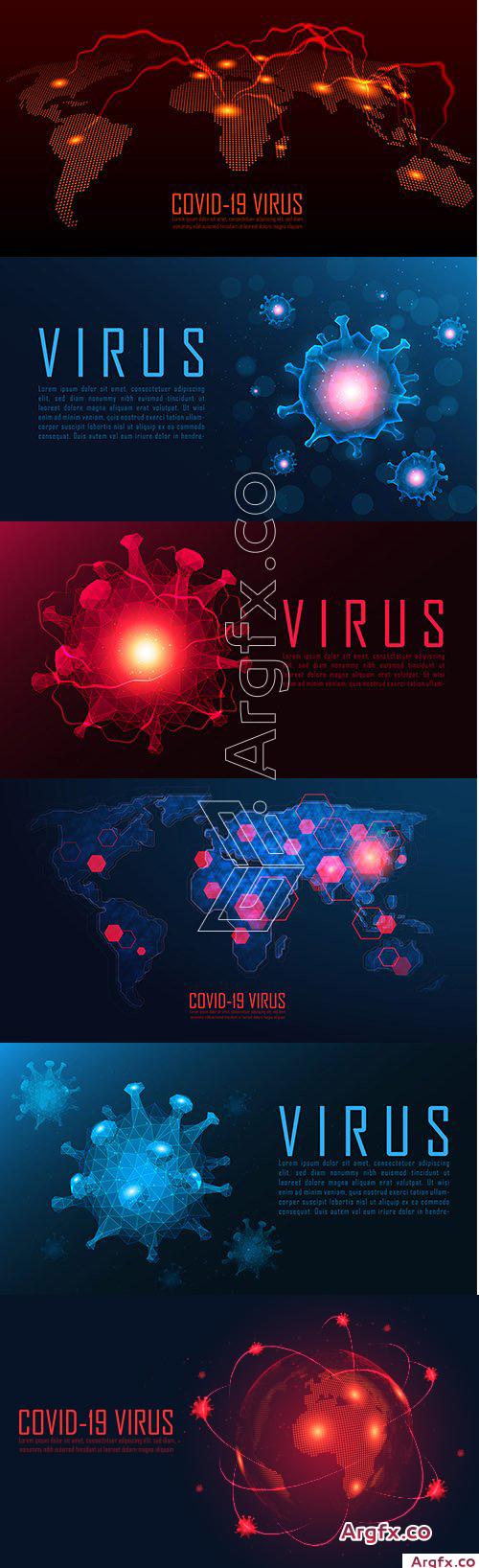 Coronavirus Background Set