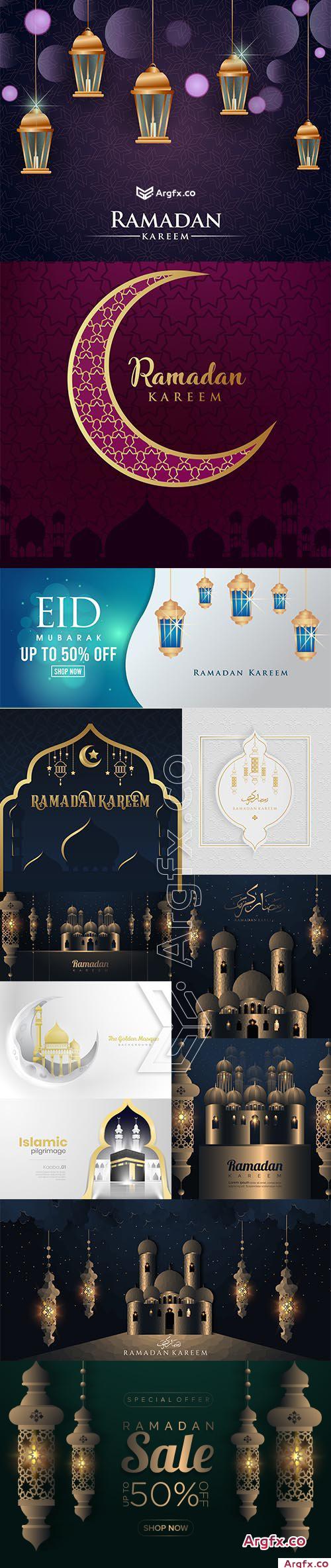 Ramadan Kareem Elegant Background Collection