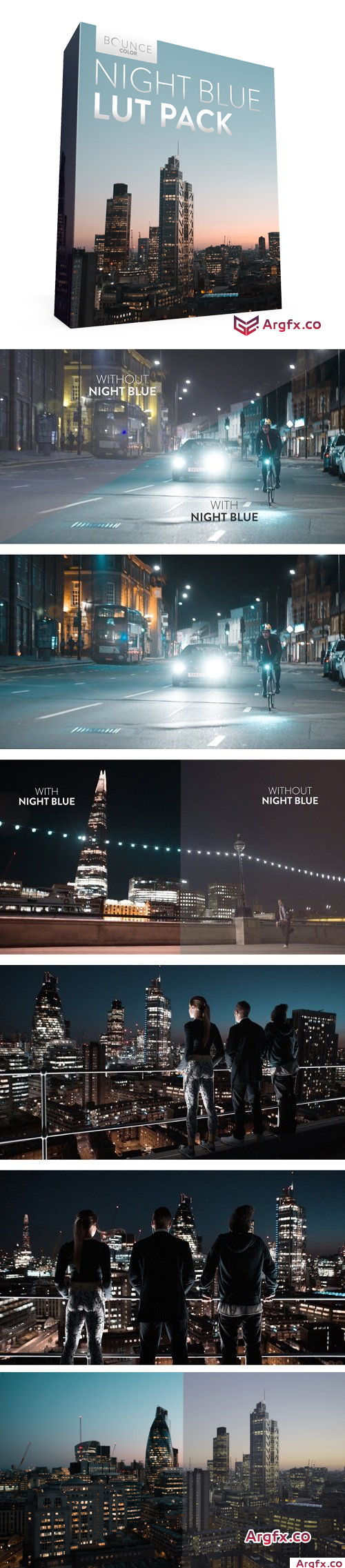 Bounce Color - NIGHT BLUE LUT Pack