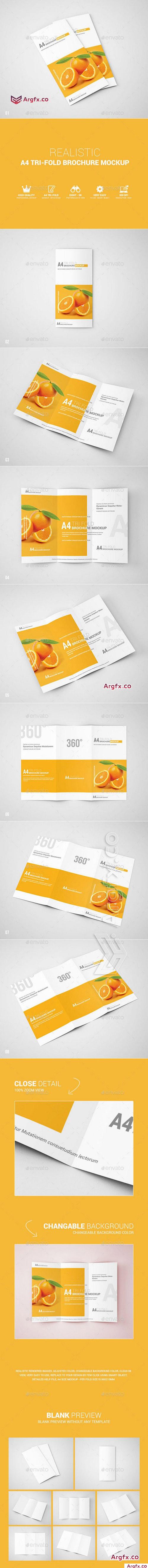 Graphicriver - A4 Tri-Fold Brochure Mockup 11292562