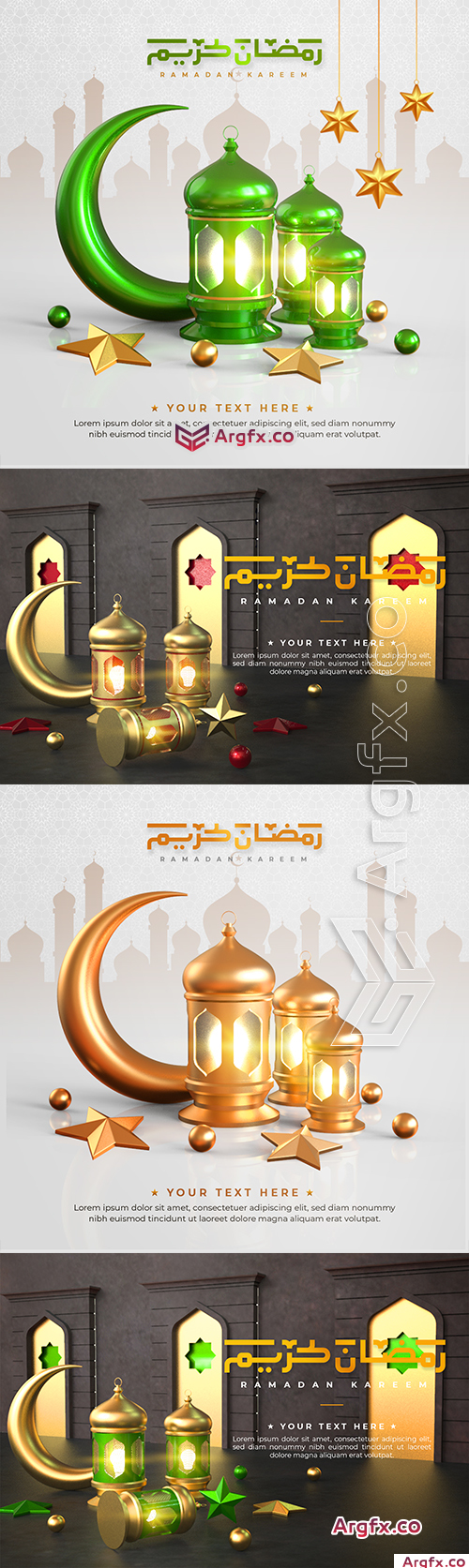 Ramadan Kareem greeting background and drawing with calligraphy